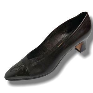 MAGIK by AMALFI CHOCOLATE BROWN ALL LEATHER PUMPS